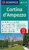KOMPASS Wanderkarte Cortina d'Ampezzo