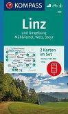 KOMPASS Wanderkarte Linz und Umgebung, Mühlviertel, Wels, Steyr