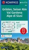 KOMPASS Wanderkarte Gröden, Seiser Alm, Val Gardena, Alpe di Siusi