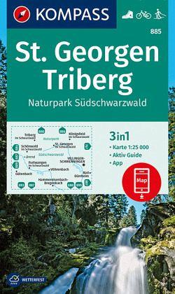 Südschwarzwald Karte.Kompass Wanderkarte St Georgen Triberg Naturpark Südschwarzwald