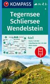 KOMPASS Wanderkarte Tegernsee, Schliersee, Wendelstein