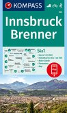 KOMPASS Wanderkarte Innsbruck, Brenner