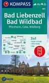 KOMPASS Wanderkarte Bad Liebenzell, Bad Wildbad