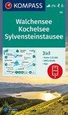 Kompass Karte Walchensee, Kochelsee, Sylvensteinstausee