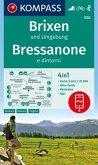 KOMPASS Wanderkarte Brixen und Umgebung, Bressanone e dintorni