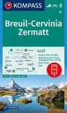 Kompass Karte Breuil-Cervinia, Zermatt