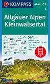 KOMPASS Wanderkarte Allgäuer Alpen, Kleinwalsertal