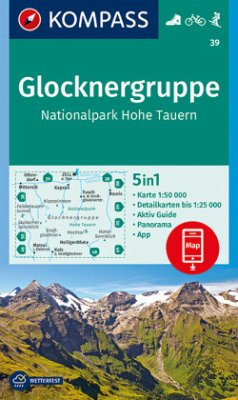 KOMPASS Wanderkarte Glocknergruppe, Nationalpark Hohe Tauern