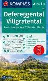 KOMPASS Wanderkarte Defereggental, Villgratental, Lasörlinggruppe, Villgrater Berge