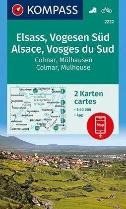 Elsass Karte Colmar.Kompass Wanderkarte Elsass Vogesen Süd Alsace Vosges Du Sud Colmar Mülhausen Mulhouse
