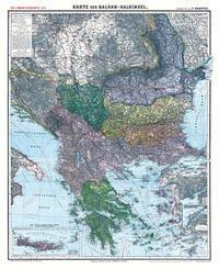 Historische Karte: Die BALKAN Halbinsel - um 1910 [gerollt]