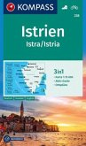 Kompass Karte Istrien, Istra, Istria