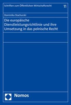 Die europäische Dienstleistungsrichtlinie und i...