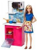 Barbie Deluxe-Set Möbel Küche & Puppe
