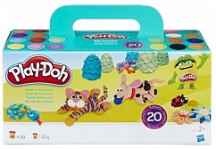 Hasbro A7924EU9 - Play-Doh, 20er Pack, Super Farbenset. Knete
