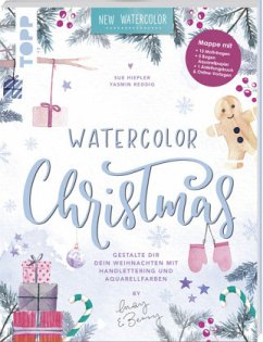 Watercolor Christmas. Gestalte dir dein Weihnachten mit Handlettering und Aquarellfarben by May and Berry - Reddig, Yasmin; Hiepler, Sue