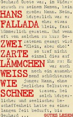 Zwei zarte Lämmchen weiß wie Schnee (eBook, ePUB) - Fallada, Hans