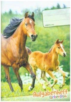"""Lernfreunde Aufgabenheft Farbenfroh A5 1 Schuljahr Motiv """"Pferde"""" EH, Zusatz sortenrein"""