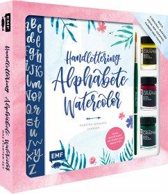 Handlettering Alphabete Watercolor - Das Starter-Set - Feine Buchstaben mit Pinsel und Brush Pen - Janssen, Martina Johanna