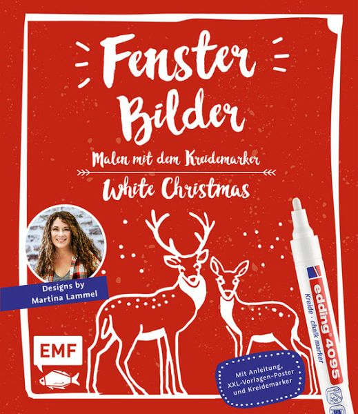 Fensterbilder Malen Mit Dem Kreidemarker White Christmas Von