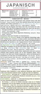 Japanisch - Kurzgrammatik. Die komplette Grammatik anschaulich und verständlich dargestellt - Autorenkollektiv Holman