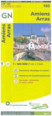 IGN Karte, Tourisme et vélo Amiens Arras