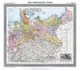 Historische Preussenkarte / DER PREUSSISCHE STAAT - 1905 [gerollt]