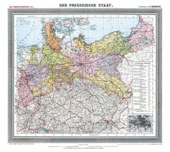 Historische Preussenkarte / DER PREUSSISCHE STAAT - 1905 [gerollt] - Handtke, Friedrich