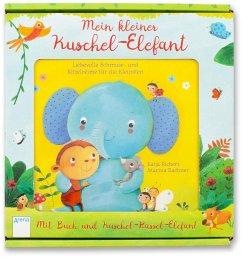Mein kleiner Kuschel-Elefant. Pappbox mit Buch und Stoffrassel (Elefant) - Richert, Katja