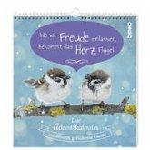 Postkarten-Adventskalender »Wo wir Freude einlassen, bekommt das Herz Flügel«