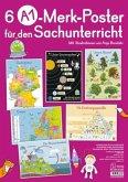 A1-Poster für den Sachunterricht - Deutschland, Europa, Wasserkreislauf, Sonnensystem, Bäume, Ernährungspyramide