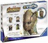 Ravensburger 18048 - Avengers Infinity War Groot, 4S Vision, Bausatz, Figur