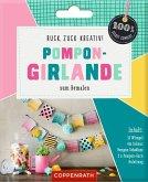 Ruck, zuck kreativ - Pompon-Girlande zum Bemalen