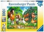 Ravensburger 10689 - Versammlung der Tiere, 100 Teile, XXL Puzzle