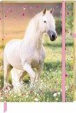 Notizbuch mit Stoffeinband - Pferdefreunde - Meine Notizen