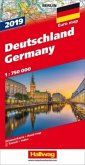 Hallwag Straßenkarte Deutschland 2019