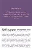 Zur Geschichte und aus den Inhalten der erkenntniskultischen Abteilung der Esoterischen Schule 1904 bis 1914