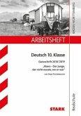 Arbeitsheft Realschule - Deutsch 10. Klasse Baden-Württemberg - Ganzschrift 2018/19 - Tuckermann: Mano