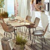 Outdoor-Stuhl Juist Natur/Schwarz