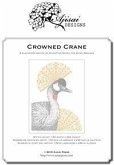 Crowned crane. Blackwork design