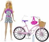 Barbie Puppe & Fahrrad