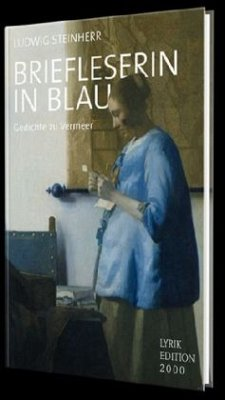 Briefleserin in Blau - Steinherr, Ludwig