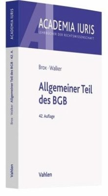 Allgemeiner Teil des BGB - Brox, Hans; Walker, Wolf-Dietrich