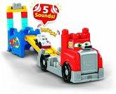Mega Bloks Fast Tracks Rennwagen-Transporter mit Geräuschen (15 Teile)