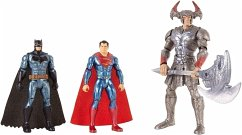 DC Justice League Movie Basis Figuren 3er-Pack (15 cm): Batman, Steppenwolf, Superman