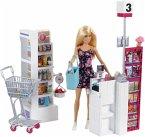 Mattel FRP01 Barbie Supermarkt und Puppe