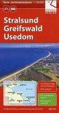 Reise- und Entdeckerkarte Stralsund, Greifswald, Usedom 1 : 100 000