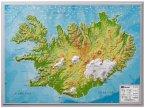 Island, Reliefkarte, Klein 1:500.000