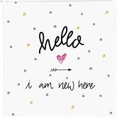 Goldbuch Hello i am new here 25x25 60 Seiten Babyalbum 24319