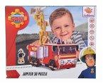 Simba 109255602 - Feuerwehrmann Sam, 3D Puzzle, 23x18,5cm, Bastelset, Zum Zusammenbauen, Motiv, Jupiter